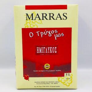 ΜΑΡΡΑΣ, ΕΡΥΘΡΟ, ΗΜΙΓΛΥΚΟ, 5Lt, Winepoems.gr, Κάβα Γκάφας