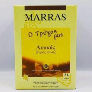 ΜΑΡΡΑΣ, ΛΕΥΚΟ, ΞΗΡΟ, 5Lt, Winepoems.gr, Κάβα Γκάφας